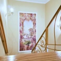 Лестница на мансарду, таунхаус 5-5 в поселке Art Village