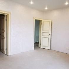 Спальня+гардеробная в коттедже кп Арт Вилладж